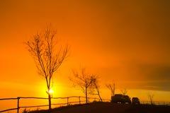 Mattina di alba. Immagini Stock