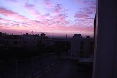 Mattina di alba del cielo fotografie stock libere da diritti