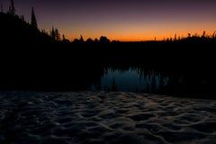 Mattina di alba nelle alte montagne dell'Idaho Fotografia Stock