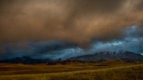 Mattina di autunno della montagna Fotografia Stock