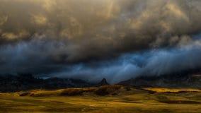 Mattina di autunno della montagna Fotografie Stock Libere da Diritti
