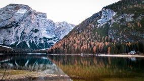 Mattina di autunno nelle alpi Immagini Stock Libere da Diritti