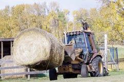 Mattina di autunno sull'azienda agricola canadese Fotografie Stock