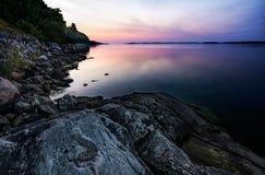 Mattina di estate del Mar Baltico Immagine Stock Libera da Diritti