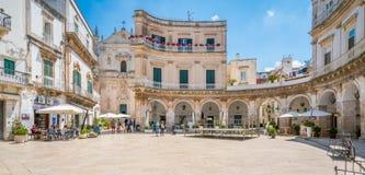 Mattina di estate in Martina Franca, provincia di Taranto, Puglia, Italia del sud immagini stock libere da diritti