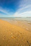 Mattina di estate sulla spiaggia Fotografia Stock