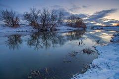 Mattina di inverno Immagine Stock