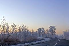 Mattina di inverno Fotografie Stock