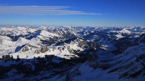 Mattina di inverno nel Bernese Oberland Fotografie Stock Libere da Diritti