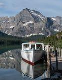 Mattina Eagle Docked In Lake Josephine fotografia stock libera da diritti