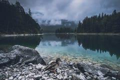 Mattina Forky allo Zugspitze fotografie stock