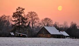 Mattina fredda Fotografie Stock