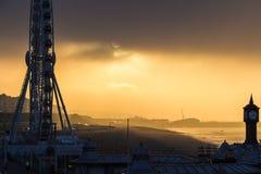 Mattina fredda nuvolosa a Brighton, il Regno Unito Immagine Stock