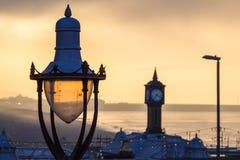 Mattina fredda nuvolosa a Brighton, il Regno Unito Fotografia Stock