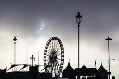 Mattina fredda nuvolosa a Brighton, il Regno Unito Fotografie Stock Libere da Diritti