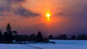 Mattina gelida di inverno immagine stock