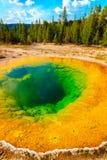 Mattina Glory Pool, parco nazionale di Yellowstone, bacino superiore del geyser Fotografia Stock