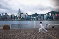 Mattina Hong Kong immagini stock
