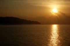Mattina in mar Cinese meridionale fotografia stock libera da diritti