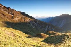 Mattina in montagne, alpi austriache Immagini Stock Libere da Diritti