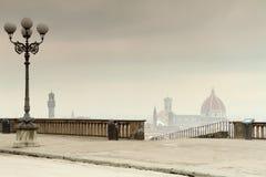 Mattina nebbiosa a Firenze Immagine Stock