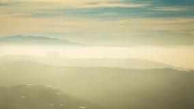 Mattina nebbiosa nella baia di Trieste Immagine Stock Libera da Diritti