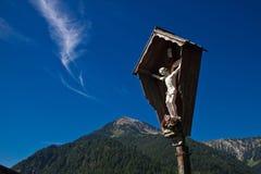 Mattina nebbiosa nelle alpi austriache Fotografia Stock