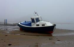 Mattina nebbiosa, spiaggia di Alnmouth, Northumberland Immagini Stock