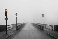 Mattina nebbiosa a Stoccolma immagini stock