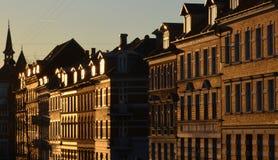 Mattina nella città (Aarhus, Danimarca) Immagini Stock Libere da Diritti