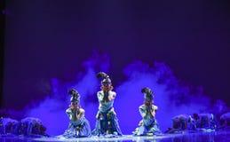 Mattina nella danza popolare di foresta-cinese Fotografia Stock Libera da Diritti