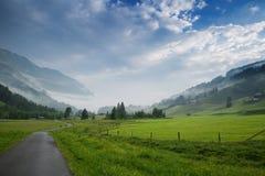 Mattina nelle alpi, Austria, Rauris Paesaggio della natura Fotografia Stock Libera da Diritti