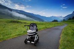 Mattina nelle alpi, Austria, Rauris Paesaggio della natura Fotografie Stock