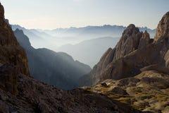 Mattina nelle montagne Immagine Stock