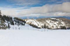 Mattina a Ski Resort Immagini Stock Libere da Diritti