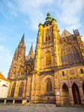 Mattina soleggiata al san Vitus Cathedral, castello di Praga, Praga, repubblica Ceca Fotografie Stock Libere da Diritti