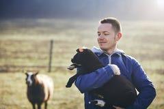 Mattina soleggiata sull'azienda agricola rurale Fotografia Stock