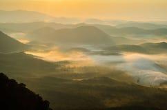 Mattina sopra la valle in Carolina del Sud Fotografie Stock