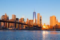 Mattina sopra Manhattan Fotografia Stock Libera da Diritti