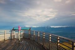 Mattina stupefacente nelle alpi di Carnic in Austria Fotografia Stock Libera da Diritti