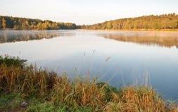 Mattina su un lago Fotografie Stock Libere da Diritti