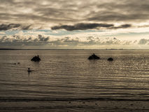 Mattina sul golfo di Finlandia del Mar Baltico fotografia stock