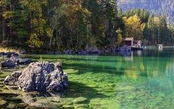 Mattina sul lago Fotografia Stock