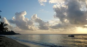 Mattina sulla spiaggia Fotografie Stock