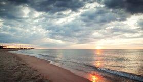 Mattina sulla spiaggia Fotografie Stock Libere da Diritti