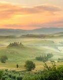Mattina in Toscana immagini stock libere da diritti