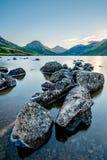 Mattina tranquilla calma a Wastwater nel distretto del lago Fotografia Stock Libera da Diritti