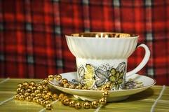 Mattina Una tazza di tè Fotografia Stock