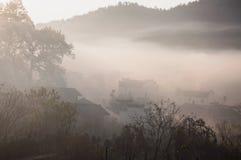 Mattina, villaggio Fotografia Stock Libera da Diritti
