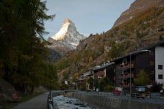 Mattina in Zermatt Immagine Stock
